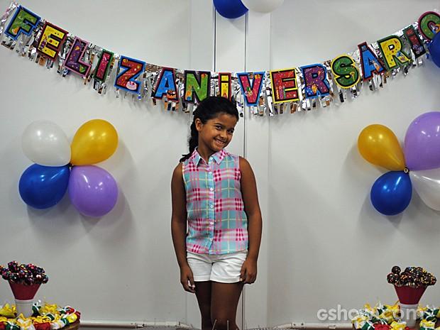 Natalia Guedes completa 11 anos de vida (Foto: Malhação/TV Globo)