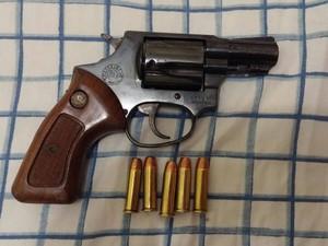 Arma de fogo Operação Jogador Gaeco Uberlândia (Foto: Polícia Militar/Divulgação)