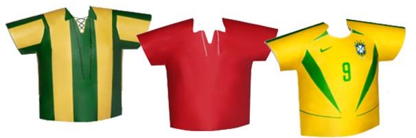 Interatividade do globoesporte.com conta a história de todas as camisas da Seleção Brasileira (Foto: globoesporte.com)