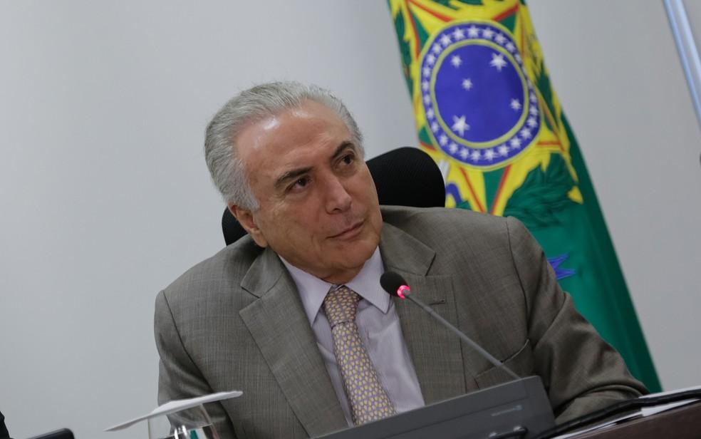 O presidente Michel Temer, durante reunião no Palácio do Planalto (Foto: Marcos Corrêa/PR)