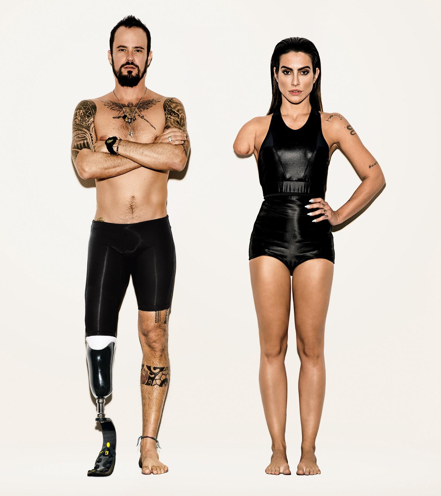 Cleo Pires e Paulo Vilhena - Paralimpíada (Foto: Reprodução)