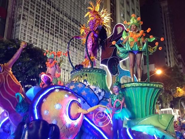 Mocidade Azul é tricampeã do carnaval  (Foto: Divulgação / Fundação Cultural de Curitiba )