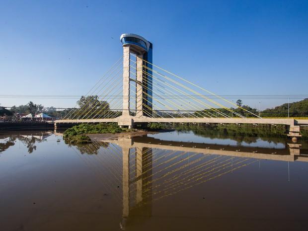 Ponte estaiada foi inaugurada em Salto (Foto: Eduardo Saraiva/Divulgação)