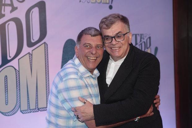 Walcyr Carrasco e Jorge Fernando  (Foto: Isac Luz / EGO)