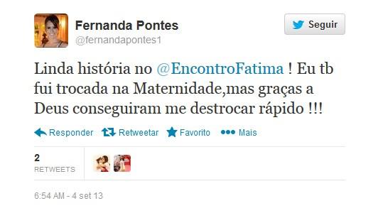 Fernanda Pontes (Foto: Reprodução/twitter)