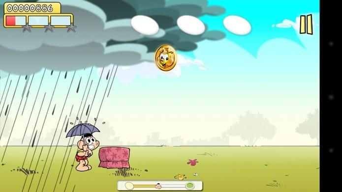 Ajude o Cascão a escapar da chuva (Foto: Divulgação)