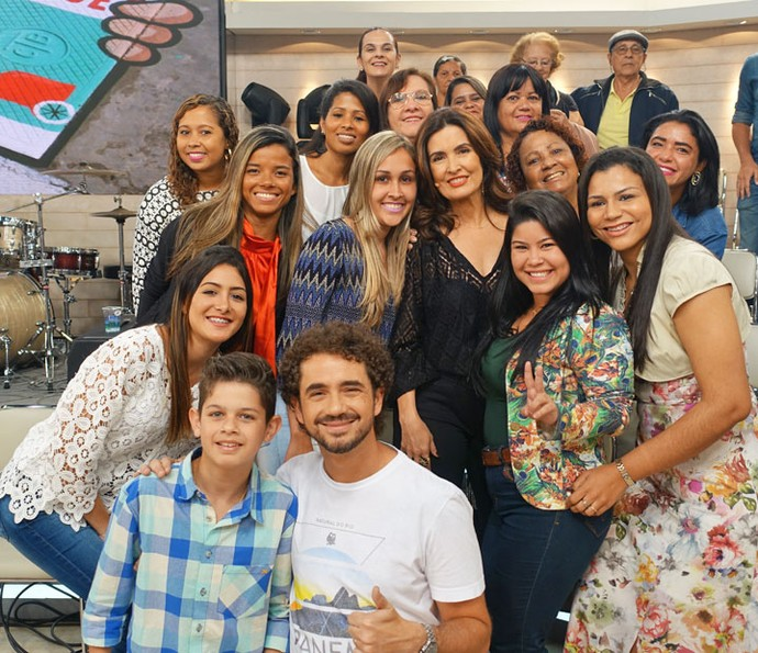 Plateia com Fátima (Foto: Vinícius Cunha/Gshow)