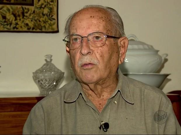 Moacyr de Carvalho Dias, inventor do requeijão de copo, morre em Poços de Caldas (MG) (Foto: Reprodução EPTV)