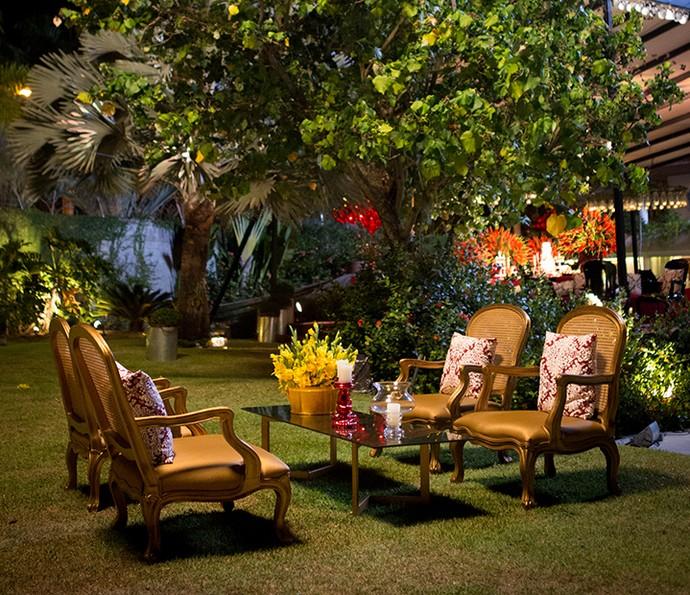 Área externa da festa (Foto: Fabiano Battaglin/Gshow)
