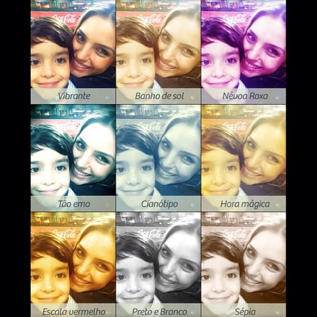 Carol Celico e o filho (Foto: Instagram/Reprodução)