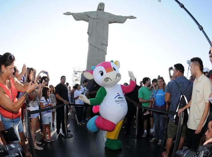 Mascotes Olimpíadas Corcovado, Cristo Redentor (Foto: André Durão / Globoesporte.com)