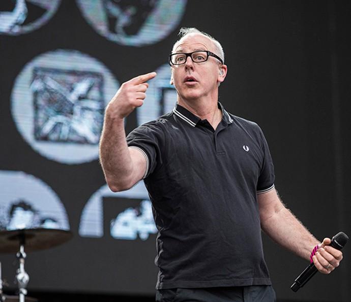 Greg Graffin fala pouco e apresenta som de muita qualidade com Bad Religion (Foto: Raphael Dias/Gshow)