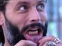 Henri Castelli mostra tatuagem verdadeira na boca e as fakes do seu personagem de 'Sol Nascente'