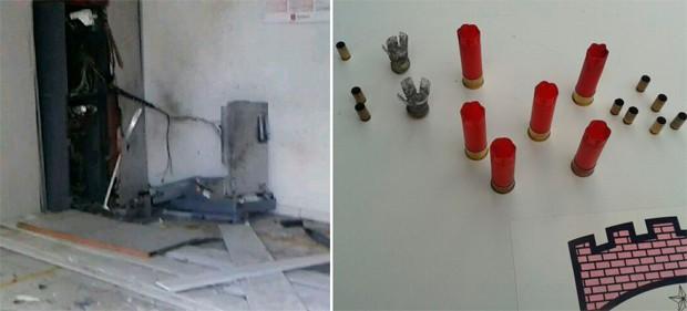 Em Upanema, quadrilha usou dinamite para explodir terminal; tiros de pistola e espingarda foram disparados  (Foto: Renato Medeiros/Contexo Upanemense)
