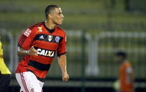 Welinton comemora, Volta Redonda x Flamengo (Foto: Ernesto Carriço/Agência Estado)