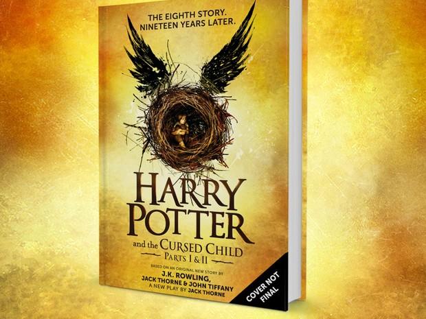 Capa provisória do livro com o roteiro da peça de teatro que seria a 8ª história de Harry Potter (Foto: Reproção/Pottermore.com)