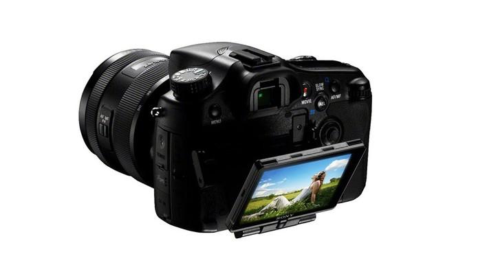 Câmera Digital Sony DSLR Alpha SLT-A77 grava em Full HD com diferentes velocidades (Foto: Divulgação/Sony)