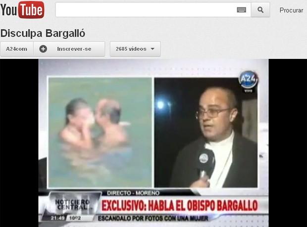 O bispo Fernando María Bargalló se explica em entrevista ao canal América 24, postada no YouTube (Foto: Reprodução)