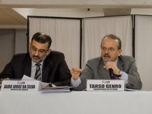 Tarso Genro Jairo Jorge (Foto: Caroline Bicocchi/Divulgação Palácio Piratini)