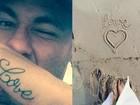 Fãs comparam tattoo de Neymar com letra de Marquezine e torcem por volta