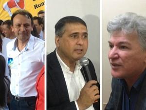 Jorge Amanajás (à esquerda), Moisés Souza e Eider Pena são acusados (Foto: John Pacheco/G1; Abinoan Santiago/G1)