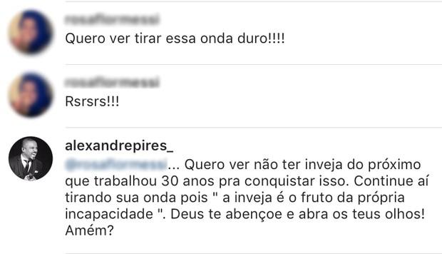 Alexandre Pires é criticado na web (Foto: Instagram / Reprodução)