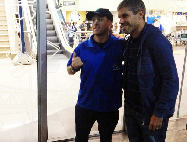 Ricardinho treinador Avaí fãs (Foto: Edmilson Ortiz/RBS TV)