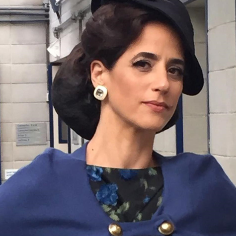 Mariana Lima caracterizada para a série 'Cidade proibida' (Foto: Arquivo pessoal)