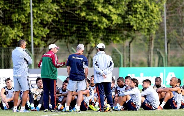 Luxemburgo com os jogadores treino Fluminense (Foto: Cristiano Andujar / Photocamera)