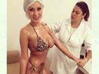 Andressa Urach faz tratamento estético para o carnaval