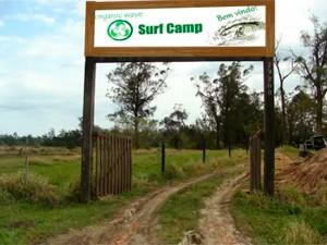 Obras do surf camp já iniciaram no Litoral Norte do Rio Grande do Sul (Foto: Guilherme Castro)