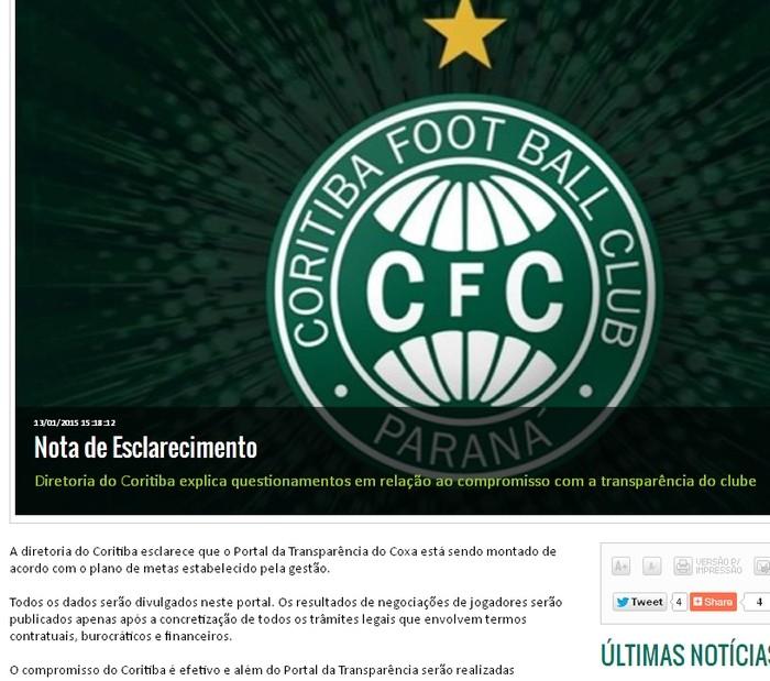 Blog Torcida Coritiba - Portal da Transparência