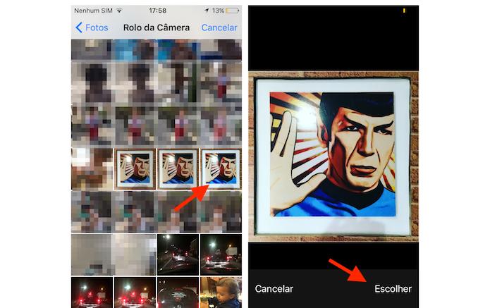 Definindo uma foto de perfil no Periscope pelo iPhone (Foto: Reprodução/Marvin Costa)
