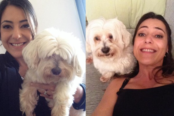A apresentadora Pricila Tanganelli enviou também seu amicão (Foto: Arquivo Pessoal)