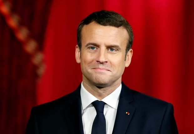 Presidente da França, Emmanuel Macron, no Palácio do Eliseu, em Paris (Foto: Francois Mori/Reuters)
