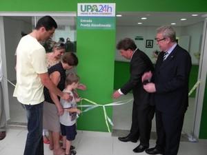 Antiga administração chegou a inaugurar UPA (Foto: Divulgação/Prefeitura de São Pedro)