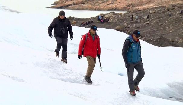 Repórteres exploram a Patagônia argentina (Foto: Reprodução/EPTV)