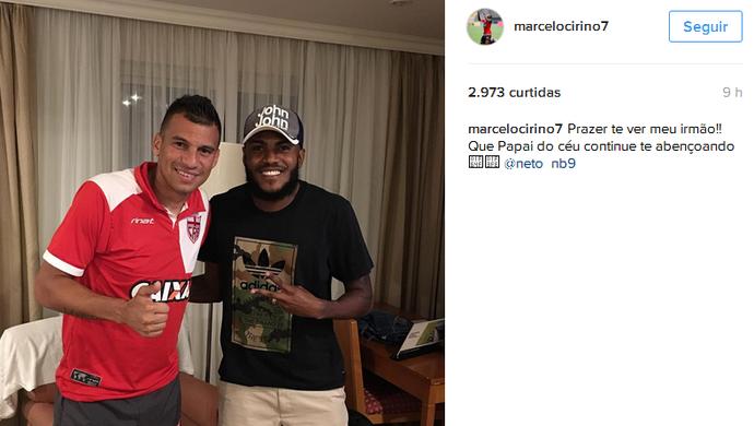 Neto Baianao e Marcelo Cirino (Foto: Reprodução/Instagram)