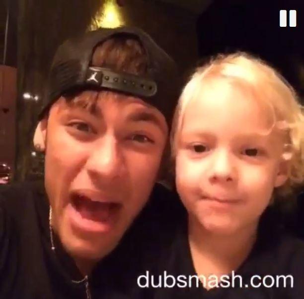 Neymar e filho (Foto: instagram/reprodução)