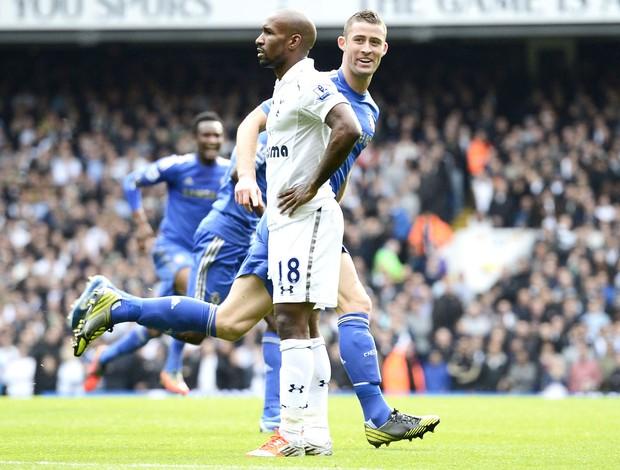 Gary comemora gol do Chelsea contra o Totteham (Foto: Agência Reuters)