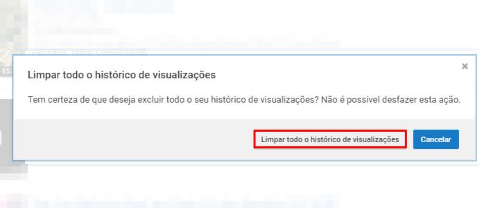 Confirme a exclusão para limpar todo o histórico (Foto: Reprodução/Paulo Alves)