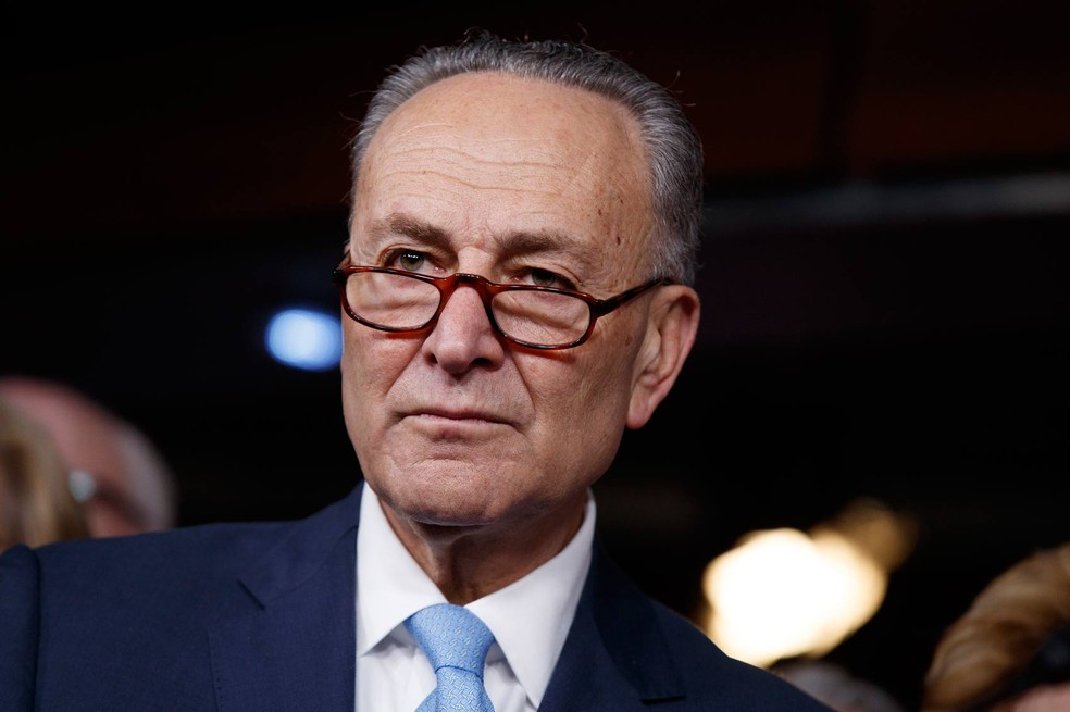 Líder democrata no Senado, Chuck Schumer (Foto: Evan Vucci/Reuters)