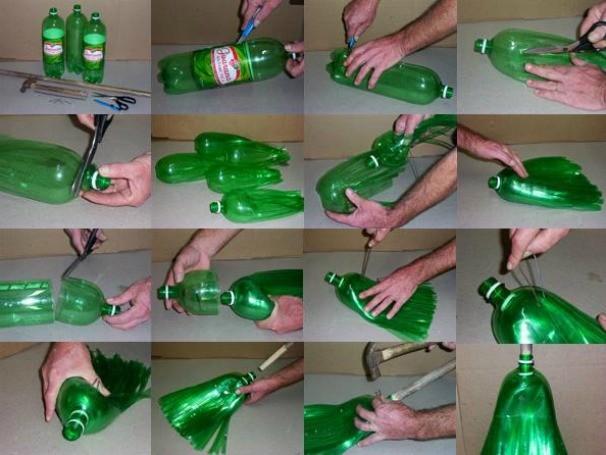 Vassoura de garrafas PET (Foto: Divulgação/Recicloteca)