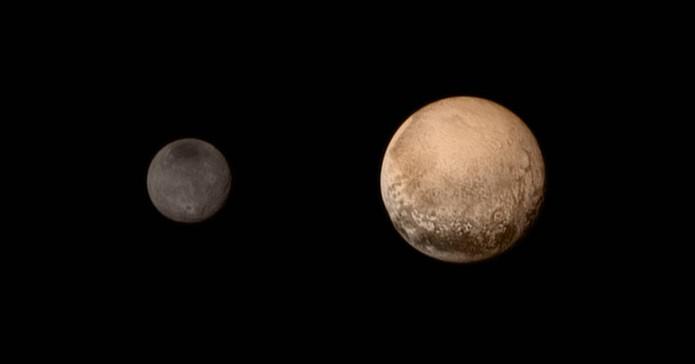 Missão da NASA revela Plutão (Pluto) e sua lua Charon cada vez mais de perto (Foto: Divulgação/NASA)