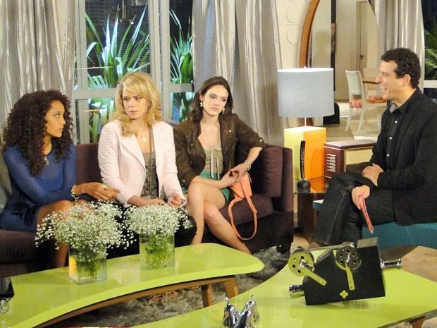 Entrevista com Empreguetes vira lavação de roupa suja entre o trio (Foto: Divulgação/TV Globo)