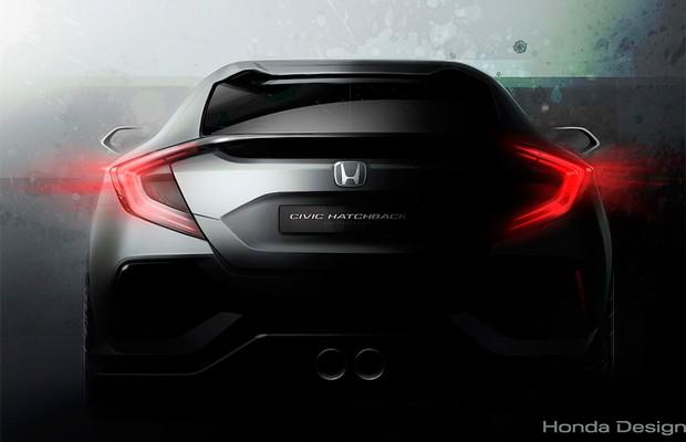 Honda Civic Hatchback aparece em teaser (Foto: Honda)