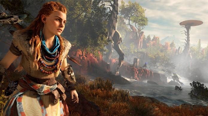 Horizon: Zero Dawn traz um belo mundo aberto para o PlayStation 4 (Foto: Reprodução/PlayStation)