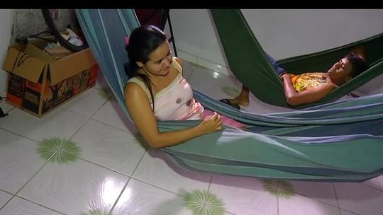 Em Belém, família não dispensa redes na hora de dormir