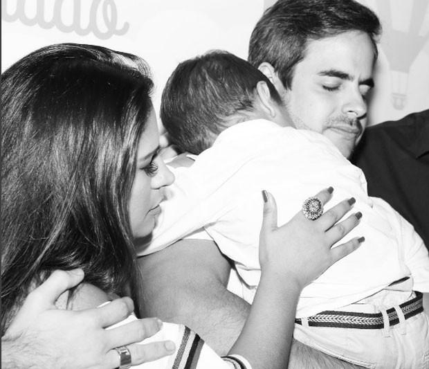 Simone, filho e o marido: aniversário (Foto: Reprodução Instagram)