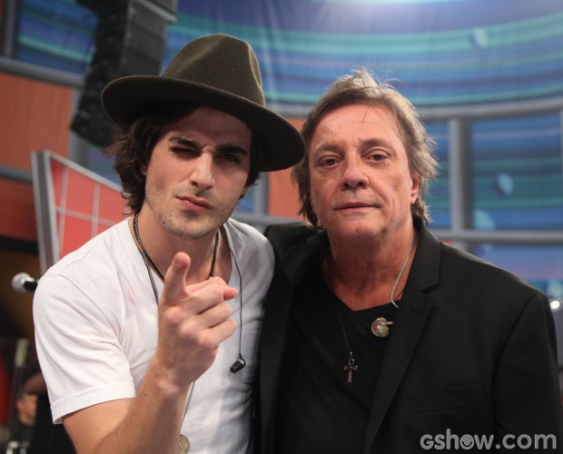 Fiuk e Fábio Jr falaram sobre a relação entre os dois (Foto: Tv Globo/Carol Caminha)